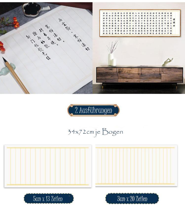 Kalligraphie-Papier für Shodo